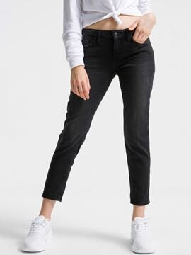 ELIANA T MAT BLACK WASH PANTOLON